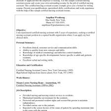Resume Template Cna Format Free Career At Sample - Sradd.me