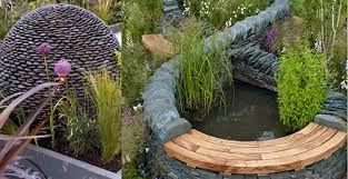 Small Picture Ideas for a raised water feature stone spehere with dry stone wall