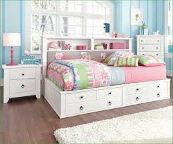Bookcase Headboard With Lights Twin Solid Wood White Full King Size