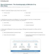 quiz worksheet the autobiography of malcolm x by alex haley  print the autobiography of malcolm x by alex haley summary analysis worksheet