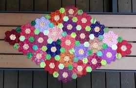 Paper Piecing Flower English Paper Piecing Hexagon Flower Garden Table Topper Create Whimsy