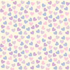 Cute Endless Pattern With Colorful Hearts Can Be Used For Wallpaper