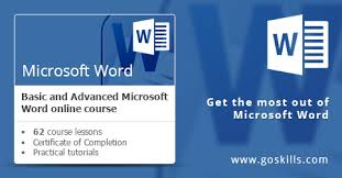 micresoft word microsoft word basic advanced online training course