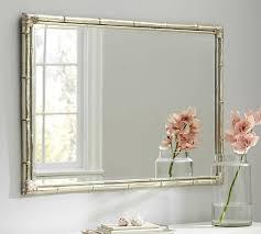 bamboo silver gilt wall mirror