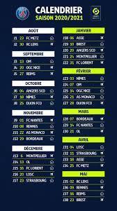 Official : ตารางแข่งลีกเอิง 2020-2021 วางแล้ว | สโมสรฟุตบอลปารีแซ็ง แฌร์แม็ง  แฟนคลับ
