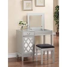 linon home decor 2 piece silver vanity set 58036sil 01 kd u the