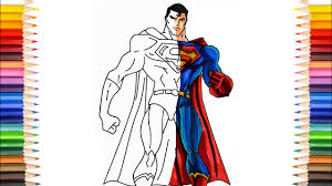 Spiderman, batman, superman et hulk jouent à. Superman Coloring Pages Super Strong Man Coloring Pages Youtube