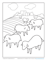 Small Picture Bible Coloring Pages for Kids The Lost Sheep