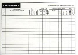 Distribution Board Circuit Chart Template Bkgcd