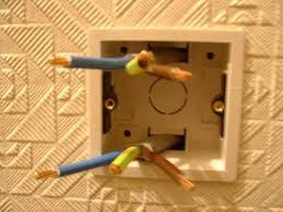 install an electric shower electrics cables in backbox