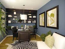 blue brown home office color schemes