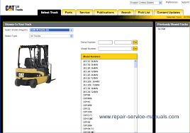 caterpillar lift trucks spare parts catalogue and service show all