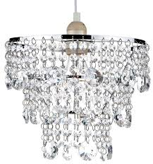crystal lamp shades dar cybil modern ceiling shade chrome cyb6550 10