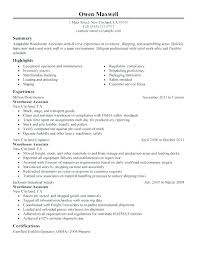 Warehouse Stocker Resume Warehouse Resume Job Description For Resume ...