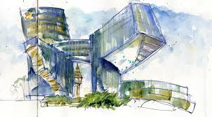 modern architecture drawing. Delighful Architecture 714x395 Modern Architecture Drawing For Architecture Drawing R