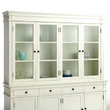 Buffet Bois Blanc White Country Galley Kitchen With Cuisine Buffet