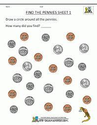 Kindergarten Money Worksheets 1st Grade Free Printable For Lesson ...