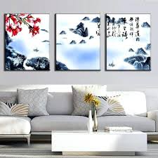 set of 3 wall art 3 set wall art traditional calligraphy painting on canvas rafting in