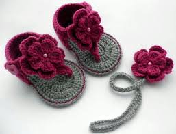 Crochet Baby Sandals Pattern Simple Source Recycledthings Source Etsy Baby Wearables