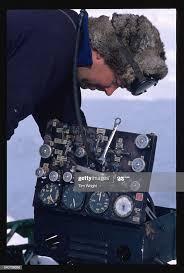 Bob Vanderveen uses a flight instrument calibration device to ...