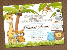 Safari Theme Baby Shower Invitations Jungle Theme Ba Shower Invitations Jungle  Theme Ba Shower