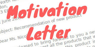 motivation letter sles and templates