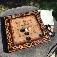 Wooden Strategy Games Twelve Men's Morris Mill Game Merels Ancient Strategy Game 23