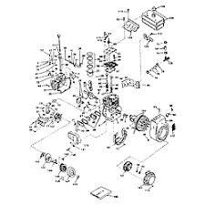 tecumseh 8 h p 4 cycle engine parts model hm80155135c sears basic engine
