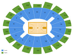 Notre Dame Stadium Detailed Seating Chart Toledo Rockets At Notre Dame Fighting Irish Basketball