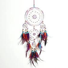 feather wall hanging handmade fashion design 4 circle dream catcher with feather wall hanging decor room feather wall hanging