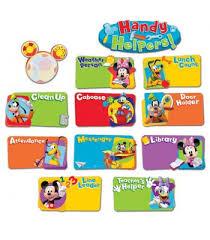 Helpers Chart Mickey Mouse Clubhouse Handy Helpers Job Chart Mini Bulletin Board Set