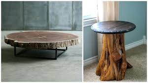 how to make a coffee table from a tree stump tree stump table within tree trunk