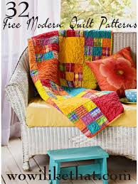 Contemporary Quilt Patterns Extraordinary Free Modern Quilt Patterns Wow I Like That