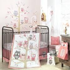 lambs ivy family tree 4 piece crib bedding set pink gray owl baby target