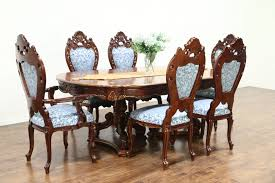 vintage dining room chairs unique baroque carved cherry vintage dining set table 6 chairs signed