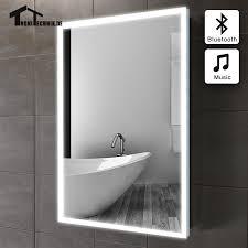 60x80cm Bluetooth ILLUMINATED LED bath mirror in bathroom piegel