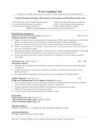 Resumes For Experienced Mechanical Engineers New Mechanical