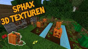 3d texture packs minecraft sphax 3d texture pack youtube