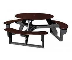 round picnic table black brown