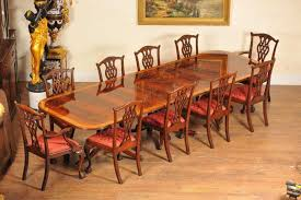 canonbury regency dining set pedestal table and 10 chippendale chairs gany suite