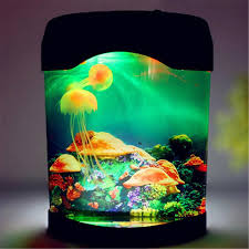 Jellyfish Aquarium Led Multi Colorful Lighting Fish Tank Mood Lamp Night Light