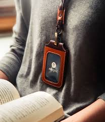 handmade genuine leather multi function lanyard wallet with card holder and leather necklace
