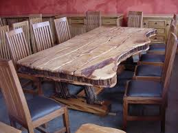 Dining Room Table That Seats 10 Modern Rustic Log Kitchen Tables With Leather Cushion Chair Design