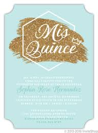 Quincenera Invitations Modern Faux Glitter Quinceanera Invitation Quinceanera