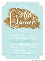 Invitation Quincenera Modern Faux Glitter Quinceanera Invitation Quinceanera