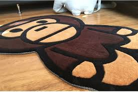 details about ape bape a bathing baby milo carpet mat bedroom rug living room area floor decor