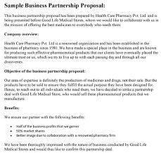 Partnership Proposal Samples Business Partnership Proposal Template