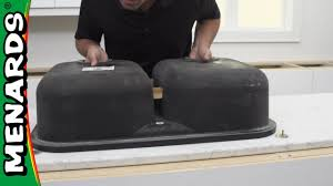 Install An Undermount Sink On Quartz Countertop Menards Youtube