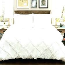 farmhouse ticking stripe duvet cover bedding set quilted sets white ruffle diamond comforter 3 pieces antique