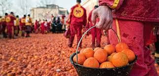 Αποτέλεσμα εικόνας για guerra di arance italia